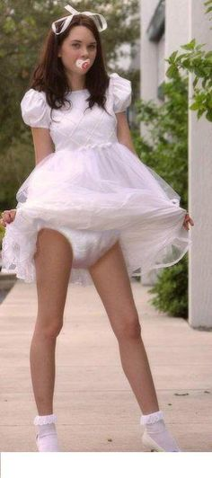 Cute Girl Wets Diaper