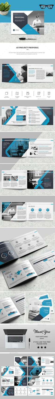 A5 Proposal — InDesign INDD #agency porposal #indesign templates • Download ➝ https://graphicriver.net/item/a5-proposal/19419490?ref=pxcr
