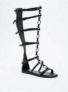 34bdfb2ebacf O Ring Knee Gladiator Sandals (Wide Width   Wide Calf)
