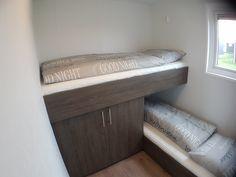 """Schlafzimmer 2 mit gemütlichen Kajütbetten im Chalet """"Veere"""" - Chaletpark Olmdenduin"""