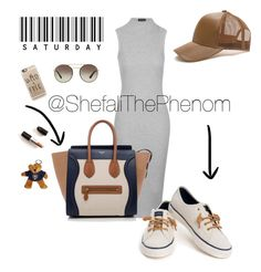 """Summer Frenzy"" by shefalithephenom on Polyvore featuring Topshop, Sperry, CÉLINE, Prada and Casetify"