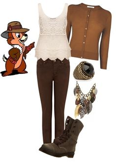 """""""Disney Inspired Outfit - Dale the Chipmunk"""" by jess-loves-tw ❤ liked on Polyvore"""