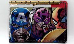 VINYL Comic Book Wallet -  The Avengers - Captain America, Iron Man, Spider Man, Thor, Hawkeye