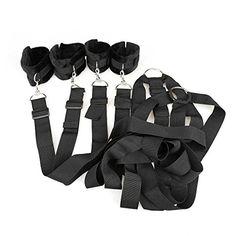 Outop 4x Bondage & SM Spielzeug Set Fesseln Handfesseln Fußfesseln Gürtel Gepolstert für Bett Patienten-Fixierung