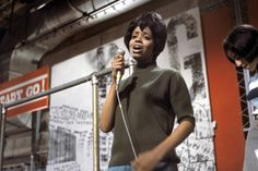 """American soul singer and pianist Fontella Bass on """"Ready, Steady, Go!""""."""