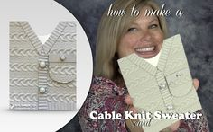 "CARD My blog hop project share is this Cable Knit Sweater card! I created with the the new Cable Knit Dynamic Impression Folder. On the ""how to"" video, I'll show you why the new dynamic folder is so cool (hint: 3-D wow), and some tips on how to use it."