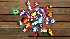 Group photo of the pieces for my World Cup soccer ball (crochetbug13) Tags: soccer crochet hexagon worldcup hexagons pentagon soccerball pentagons 2014worldcup