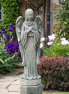 garden angels always bring blessings / Happiness.