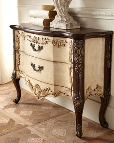 """Maren Linen"" Two-Drawer Chest - Horchow"