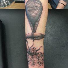 whale air balloon tattoo - Cerca con Google