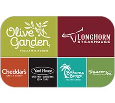 Buy gift cards for Olive Garden, LongHorn Steakhouse, Bahama Breeze, The Capital Grille, Seasons Eddie V's and Yard House. Buy Gift Cards, Visa Gift Card, Free Gift Cards, Universal Gift Card, Olive Garden Gift Card, Frugal, Longhorn Steakhouse, Restaurant Gift Cards, Bahama Breeze