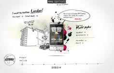 #HTC Tattoo ( 2009 ) by José Carlos Costa, via #Behance #Webdesign