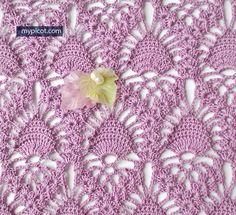 @ MyPicot - Free crochet pattern - lace pineapple stitch ༺✿ƬⱤღ  http://www.pinterest.com/teretegui/✿༻