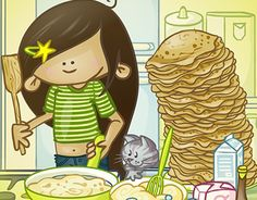 "Check out new work on my @Behance portfolio: ""Pancakes - RainyDays illustration""…"