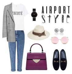 """""""Airport style"""" by ksusha-kasatkina on Polyvore featuring мода, Miss Selfridge, Alexander Wang, Gucci, Matthew Williamson, CLUSE и airportstyle"""