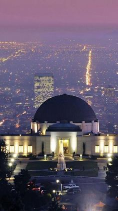 Griffith Park Observatory in Los Angeles,CA. Check out some other stunning Art Deco buildings in LA at TheCultureTrip.com. Click on the image to see them! (http://www.travelwalls.net/united-states/griffith-park-observatory-night-los-angeles-california-united-states/) http://papasteves.com/blogs/news