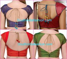 brocade blouse back neck models