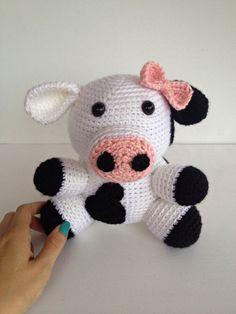 Crochet Girl Cow by YouHadMeAtCrochet