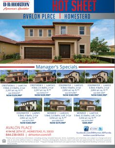 Great Managers Specials at Avalon Place in #homestead. Superb community near Waterstone http://bit.ly/2aowptO