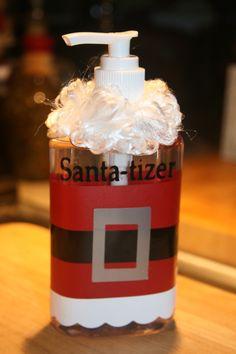 Santa-tizer. $7.00, via Etsy.