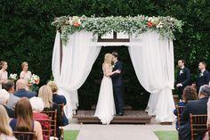 Photography : Emily Ann Hughes | Wedding Dress : Watters | Event Design : XO Events And Design | Venue : Coles Garden Read More on SMP: http://www.stylemepretty.com/oklahoma-weddings/oklahoma-city/2016/01/20/pretty-preppy-autumn-garden-wedding/