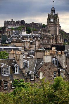 Edinburgh, Scotland from Calton Hill.