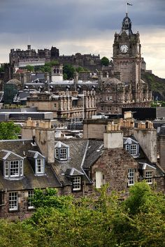 View of Edinburgh, Scotland from Calton Hill
