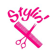 Stylin' Hair Dresser Vinyl Decal Sticker by MinglewoodTrading