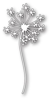 Poppystamps 1809 Dandelion Stem wafer thin craft die made from steel. Rose Stem, Dandelion Flower, Handmade Stamps, Rose Frame, Blooming Rose, Stencil Designs, Stencil Patterns, Marianne Design, Small Flowers