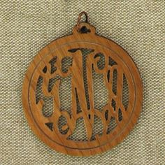 Personalized Cherry Wood Pendant - have the acrylic pendant and want something different?  How about cherry wood with your initials?