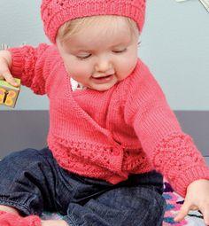 Modèle cache-coeur point fantaisie - Modèles tricot layette - Phildar