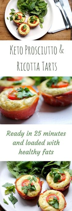 These tasty little morsels are the perfect Keto Prosciutto recipe! Using Prosciutto in adorable little tarts, filled with a fluffy lemon ricotta filling and on the table in 25 minutes, these little bites are the perfect weekend keto breakfast. Keto Diet List, Starting Keto Diet, Diet Food List, Keto Meal, Dukan Diet, Food Lists, Keto Diet Drinks, Diet Snacks, Diabetic Snacks