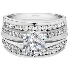 Cathedral Ring Guard - Enhance your Diamond Ring.