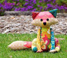 Fox Softie PDF Sewing Pattern Francie the Fox Stuffed Animal Pattern Patchwork Fox Pattern (11.50 AUD) by AngelLeaDesigns