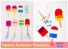 Popsicle party invite