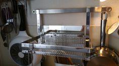 RÖSLE offene Küche - Ablage tief - Edelstahl BxTxH ca. 33 x 19,5 x 23,5 cm.