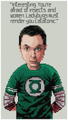 PDF Cross Stitch pattern 0273.Sheldon Cooper (The Bigbang Theory) by PDFcrossstitch