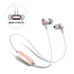 Amazon.com: Bluetooth Headphones,Sweatproof Magnet Attraction V4.0 Wireless Headphones In-Ear Sports Earphones Headset Noise Reduction Earbuds Stereo Earphones with Microphone and Volume Control (Pink-Golden): Cell Phones & Accessories