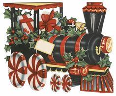 Zwarte Kersttrein met Hulst