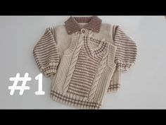 How to Knit – V Neck Boys' Sweater Years) - Babykleidung Baby Knitting Patterns, Baby Sweater Patterns, Knitting For Kids, Easy Knitting, Crochet Baby Sweaters, Crochet Baby Shoes, Knit Crochet, Baby Cardigan, Baby Pullover Muster