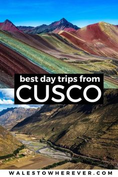 10 Best Day Trips from Cusco - Cusco sees more than 1 million tourists a year but did you know Cusco is the perfect base for a ton of great day trips? Check out these 10 best day trips from Cusco. Machu Picchu, South America Destinations, South America Travel, Backpacking South America, Travel Destinations, Travel Tips, Travel Hacks, Travel Essentials, Budget Travel