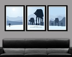 Star Wars Empire Strikes Back Inspired Minimalist Movie Poster Set - Edition Two - Home Decor by BigTimePosters on Etsy https://www.etsy.com/listing/181400167/star-wars-empire-strikes-back-inspired
