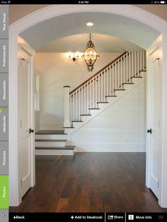 Foyer!  Floors walnut