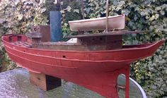 38 inch elegant tin and copper plate 1900s Hull steam Drifter boat project Bing