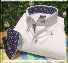 Camicia Walter Bucoli  100% puro cotone in doppio ritorto , lavorazione tessuto in piquè , tessuto realizzato  con motivi a rilievo , che variano dai puntini , ai rombi e ai riquadri.
