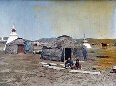 Mongolian Yurts, 1940's