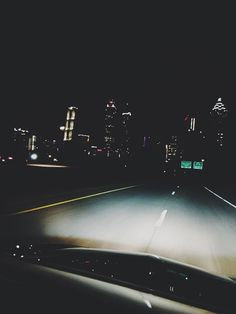 Act 3 -Tati speedily drives off into the distance. Camera angle: POV - point of view shot Location: City of Chicago City Lights At Night, Night City, Nocturne, Late Night Drives, Night Vibes, Night Driving, Concrete Jungle, Summer Nights, Late Nights