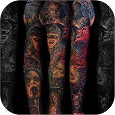 """Tattoodo op Instagram: """"Evil Dead sleeve made by @corpsepainter #tattoodo"""""""