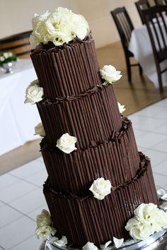 Example #3 dark chocolate wedding cake
