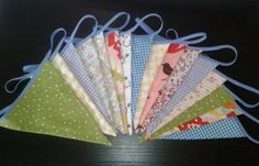 Long 5.5m bunting. Double sided patterned flags by DitsyDaisyUK, £30.00